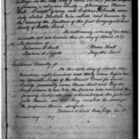 First Congregational Society of Battle Creek Articles of Incorporation