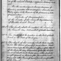 Society of the Seventh Day Adventists of Battle Creek Articles of Incorporation