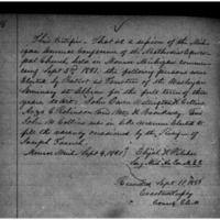 Methodist Episcopal Wesleyan Seminary of Albion Articles of Incorporation